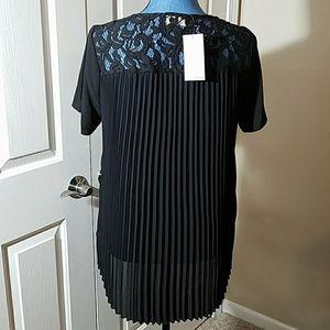 NWT Michael Kors Black Blouse Size Medium